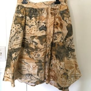 ModCloth Lively Vibe Skirt In Dino Map